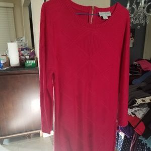 Jessica Simpson Bright Pink Sweater Dress Large
